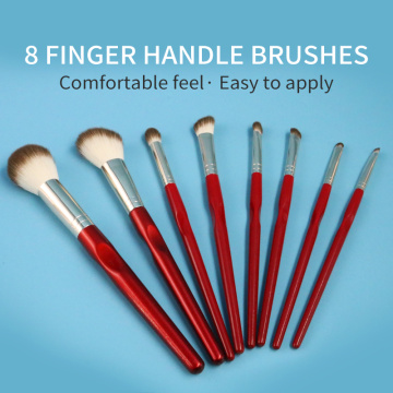2020 New Red Finger handle makeup brushes sets