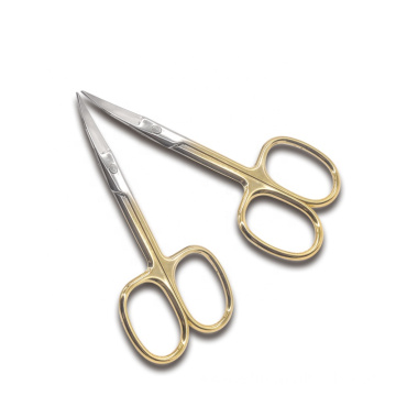 Wholesale Beauty Personal Makeup Scissors Small Gold Stainless Steel Trimming Scissors