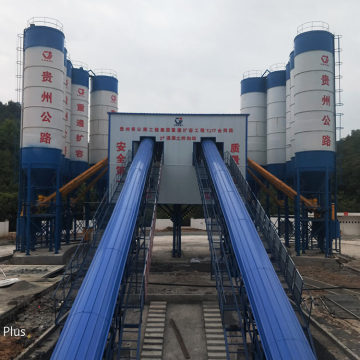 Ready simple modular stationary 90m3/h concrete mixing plant