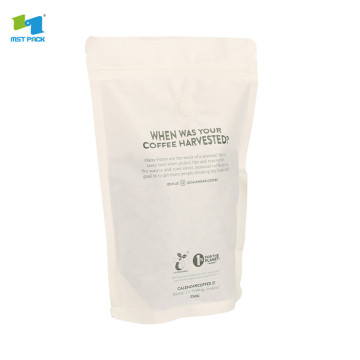 100%compostable stand up pouches white bags for bath salts
