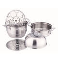 Stainless Steel Steamer Pots With Lid And Strainer