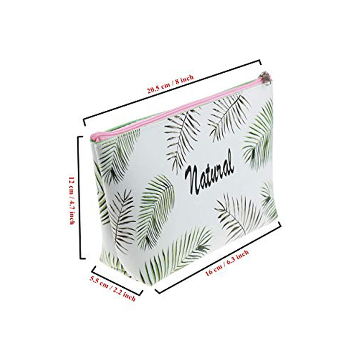 Tropical Leaf Pu Pencil Case 3