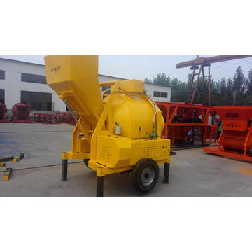 JZC350 Diesel type Hydraulic tipping hopper concrete mixer
