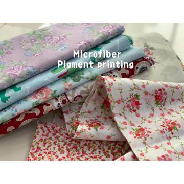 100% Polyester Microfiber Bedsheet Pigment Printing