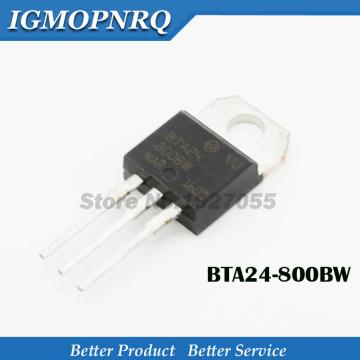 10pcs BTA24-800BW BTA24-800B BTA24-600BW BTA24-600B TO-220 800 v25a 1 w bidirectional thyristor