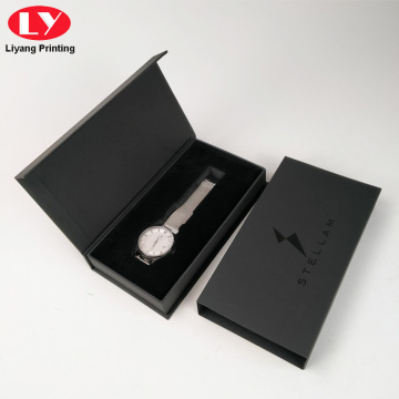 caixa relox Empaquetado Custom Logo Magnetic Watch Box