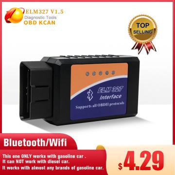ELM327 V1.5 Bluetooth/Wifi OBD2 scanner v1.5 Elm 327 PIC18F25K80 Auto Diagnostic Tool OBDII for Android/IOS/PC/Tablet PK ICAR2@4