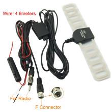 Universal Car Digital TV Radio 2 In 1 Car Antenna Car Radio Aerials Antenna Amp Booster F Connector For Car Exterior Parts