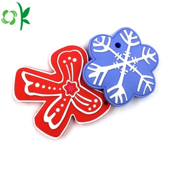 FDA Approved Christmas Silicone Baby Teether Toy