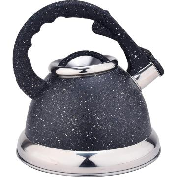 Black Stainless Steel Whistling Tea Kettle
