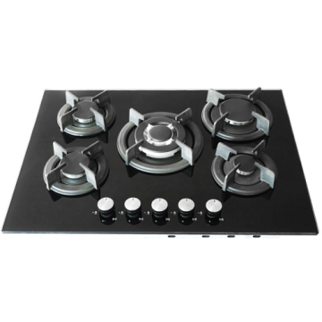 5 Burner Gas Plate Tempered Glass Hobtop