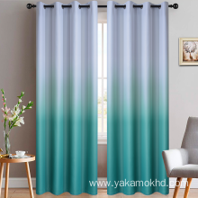 Teal Gradient Blackout Curtains