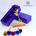 Gold flower packaging box for valentine's day