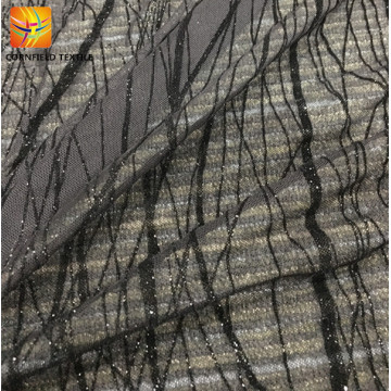 popular style fancy lurx flock fabric