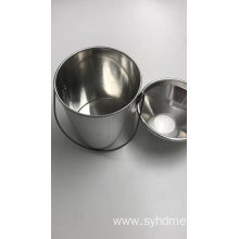 industrial iron metal bucket aluminum metal cover