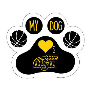 Die Cut Dog Paw Pet Magnet Car Sticker