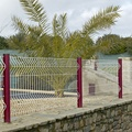 power coated after galvanized 3d wire mesh fence