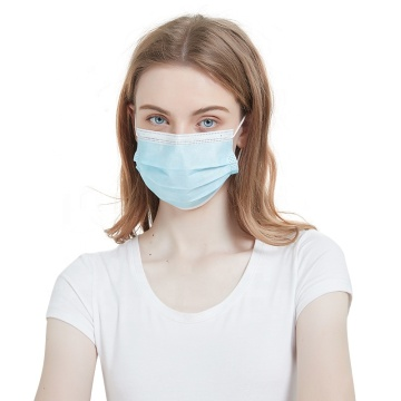 Earloop Disposable Face Masks 3-Ply Blue Mouth Mask