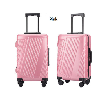 Cheap Pink School Leisure Hard shell PC Luggage