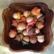 Creative Useful NEW Hot Sale 10PCS Unfinished Wooden Acorns Peg Ornament