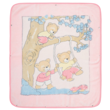 Hot selling polyester baby blanket