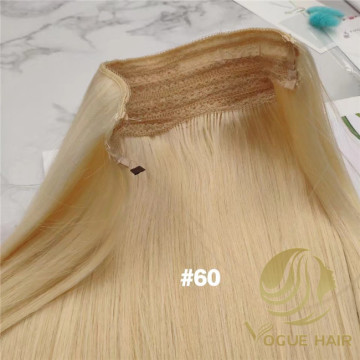 Custom #60 halo hair extensions