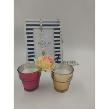 High Quality Scented Coloured Glass Candle