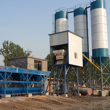 Ready mixed HZS75 concrete batching plant machine 75m³