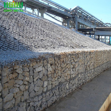 River bank Galvanized gabion bridge protection box