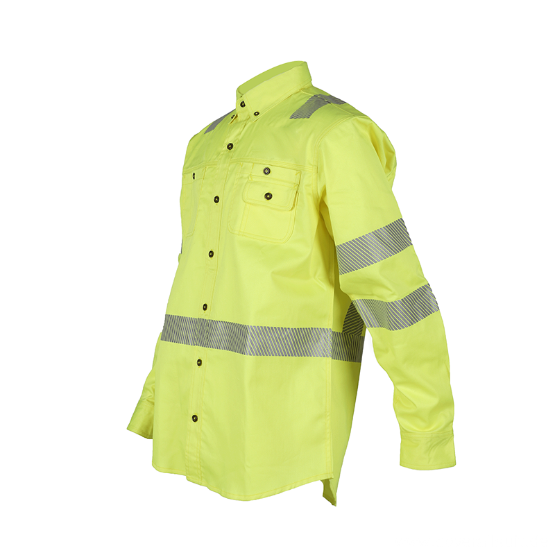 Cotton Hi Vis Flame Retardant Industry Work Shirt
