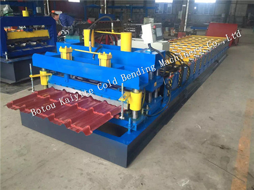 hydraulic cutting glazed machine