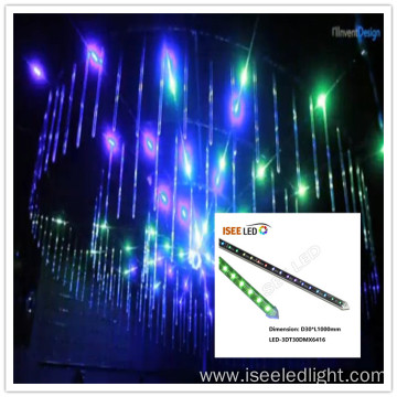 Color changing DMX RGB 3d tube DC15V