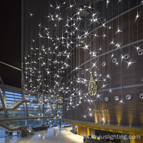 Shopping mall led project modern chandelier pendant lights