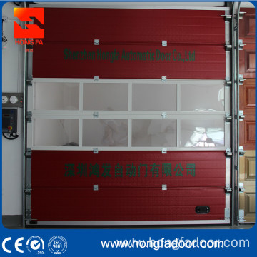 Fire station overhead sectional door