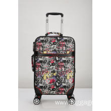 Unique pattern printed Colorful  luggage