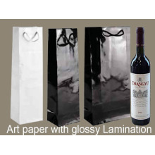 Art Paper Wine Bag