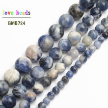 Natural Stone Beads New Blue Sodalite Round Loose Beads For Jewelry Making 15.5inch/strand Pick Size 4/6/8/10/12mm -F00119
