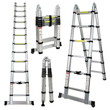 ALUMINUM TELESCOPIC LADDER 2.5+2.5 M
