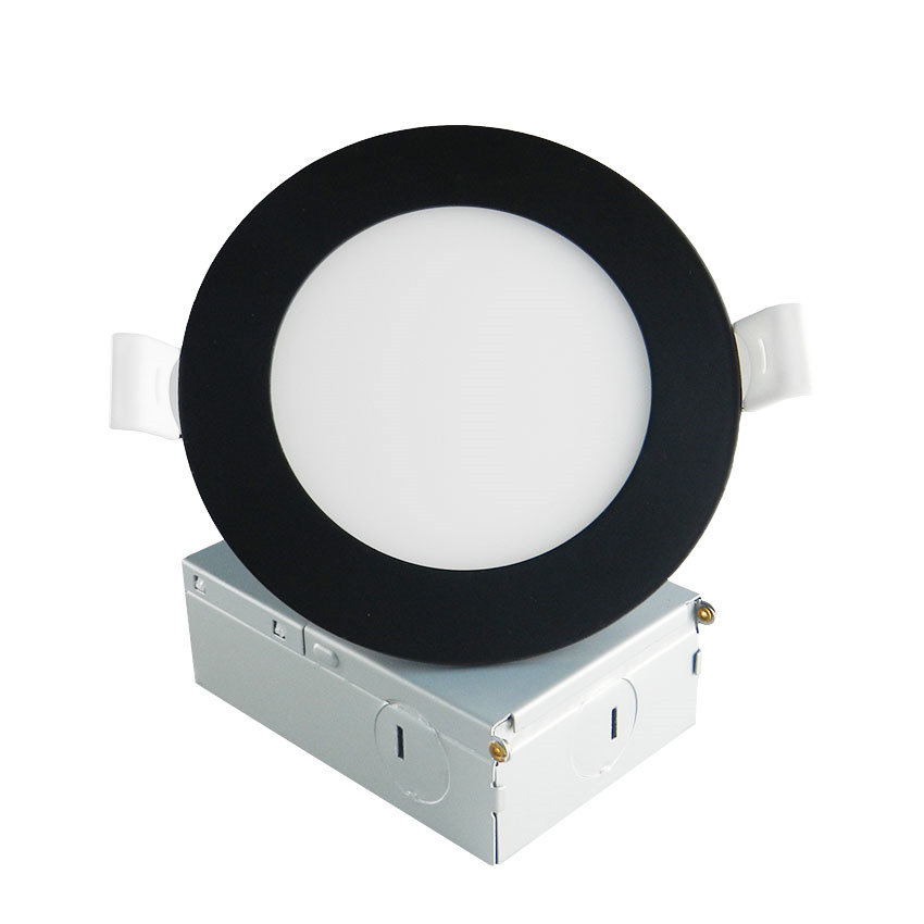 Round Black 9W LED Panel Light