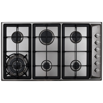 Cooker Hob Types 6 Burner Stainless Steel Top