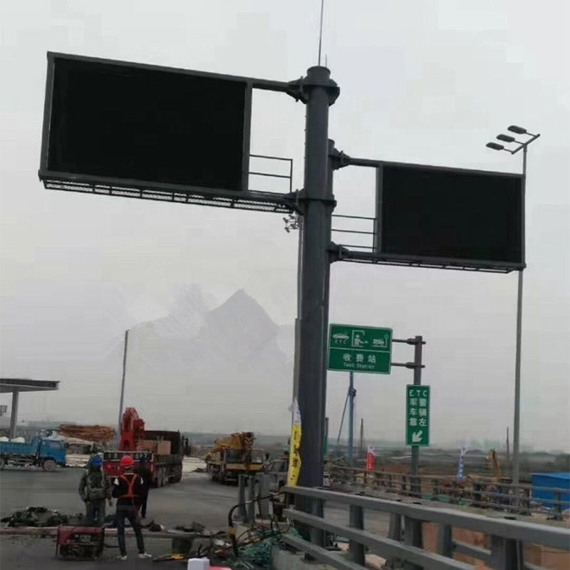 Variable Message Banners Sign On Highway Programmable