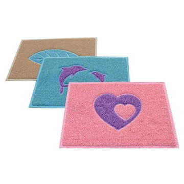 Washable coil floor fancy door mats