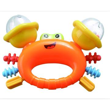 Educational Baby Bell Toy Cute Crab Rattle