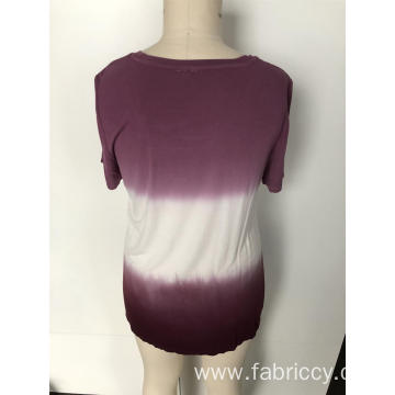 Gradient short sleeve top