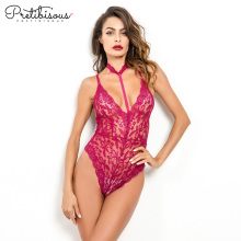 Lace Bodysuit Red colour for Ladies