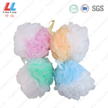 Pretty 2-in-1 mesh bath sponge
