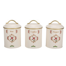 Set of 3 tea sugar coffee canister