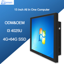 Faismars 15 inch Intel Core i3 4025U Low Power Consumption All In One PC Touch Screen Computer with Factory Price and Free Ship