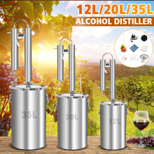 Efficient 12/20/35L Distiller Moonshine Alcohol Stainless Copper DIY Home Water Wine Essential Oil Brewing Kit With Boiler