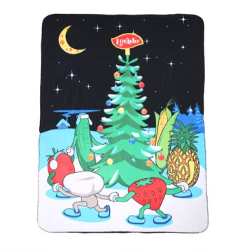 plush polar fleece Throw Printing Blankets